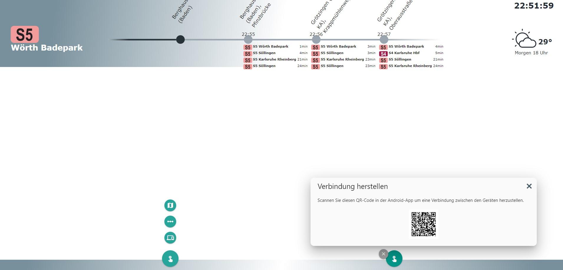 Aktive, mobile Reisebegleitung im öffentlichen Verkehr